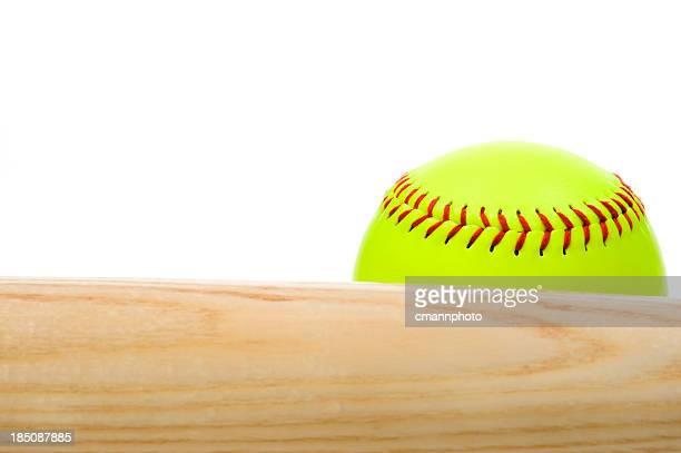 Softball and bat