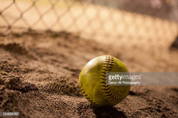 Softball in dirt