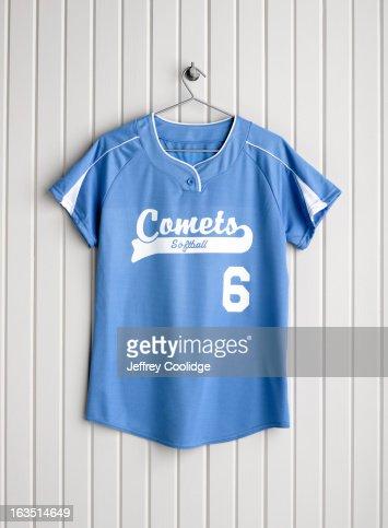 Softball Jersey on Coat Hanger