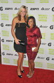 Softball player Jennie Finch and Dominique Dawes attend the 30th Annual Salute To Women In Sports Awards at The Waldorf=Astoria on October 13 2009 in...
