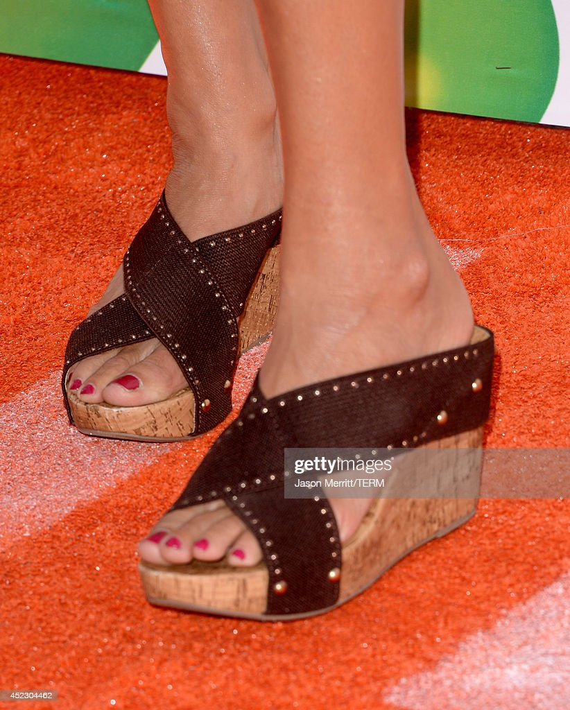 Softball player Jennie Finch (fashion detail) attends Nickelodeon Kids' Choice Sports Awards 2014 at UCLA's Pauley Pavilion on July 17, 2014 in Los Angeles, California.