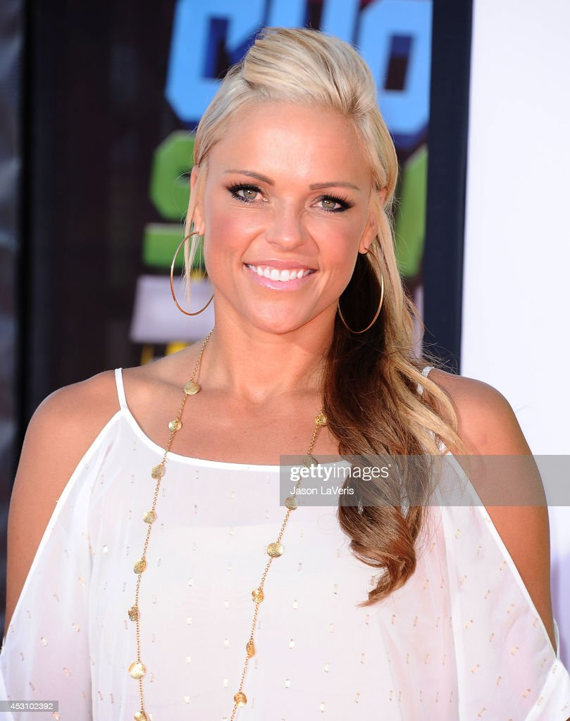 Softball player <a gi-track='captionPersonalityLinkClicked' href=/galleries/search?phrase=Jennie+Finch&family=editorial&specificpeople=212970 ng-click='$event.stopPropagation()'>Jennie Finch</a> attends the 2014 Nickelodeon Kids' Choice Sports Awards at Pauley Pavilion on July 17, 2014 in Los Angeles, California.