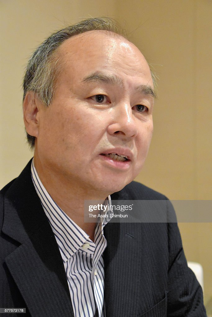 Softbank Chairman and CEO Masayoshi Son speaks during the Asahi Shimbun interview on July 19, 2016 in Tokyo, Japan. SoftBank agreed to acquire British ARM Holdings for 24.3 billion pounds.