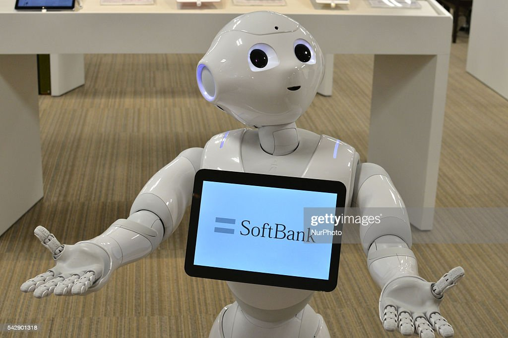 SoftBank's humanoid robot Pepper performs during a Softbank phone store in Tokyo, Japan on June 25, 2016.