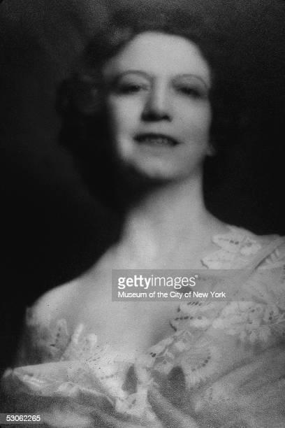 Softly lit formal studio portrait of Canadianborn beautician and cosmetics entrepreneur Elizabeth Arden late 1940s