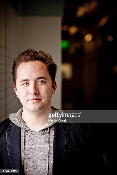 Software developer Drew Houston cofounder of Dropbox the digital storage service is photographed for Forbes Magazine on October 6 in their offices in...