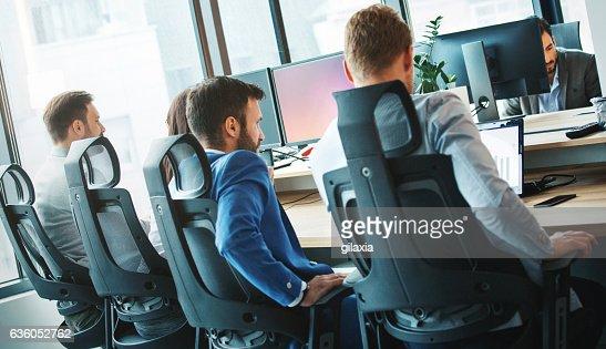 Software developing team.
