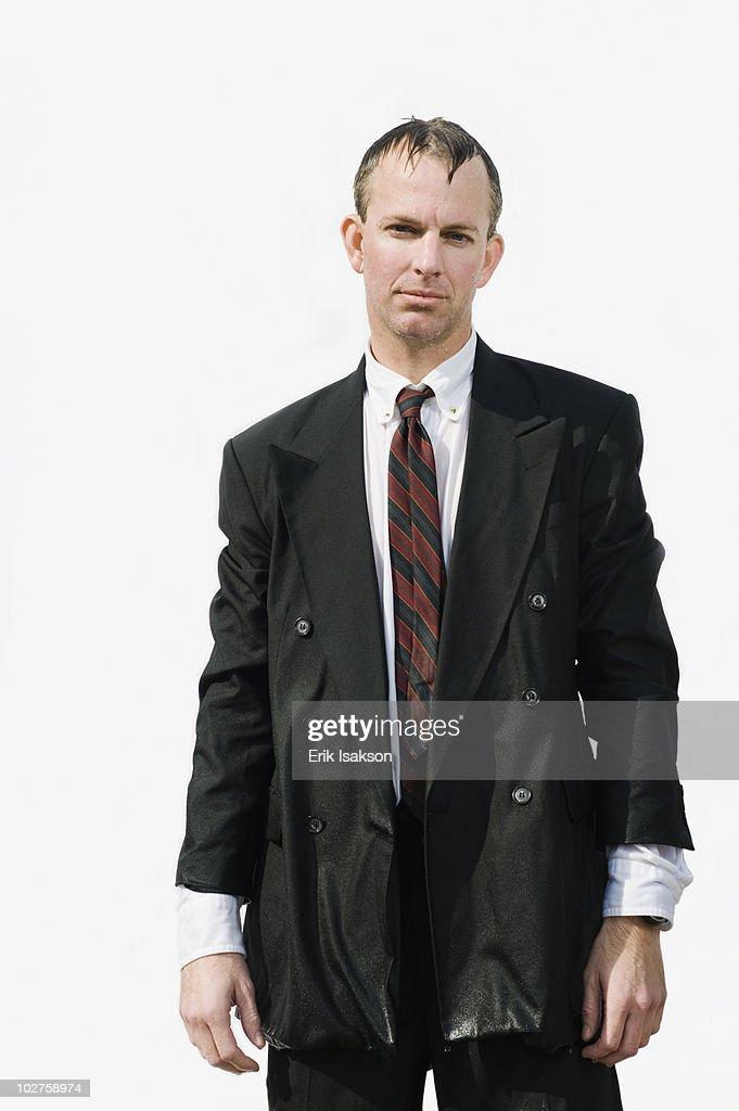 Soggy businessman