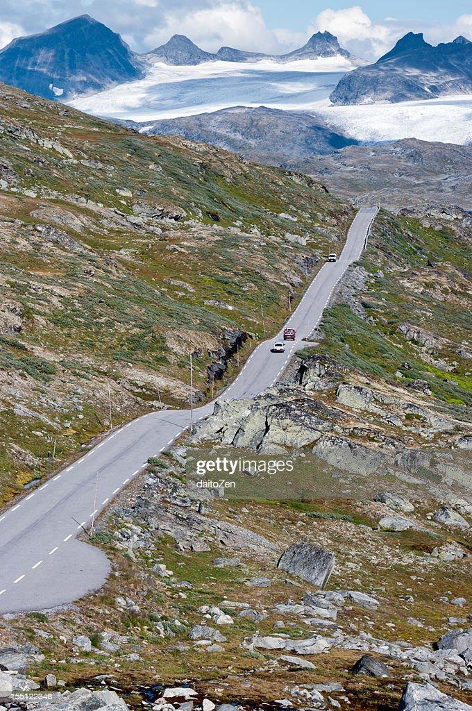 Sognefjellsvegen mountain road : Stock Photo