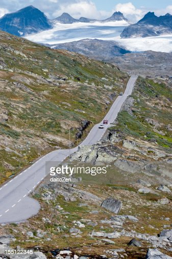 Sognefjellsvegen mountain road : Foto de stock