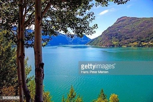 Sognefjorden near Laerdal, Sogn og Fjordane, Norway