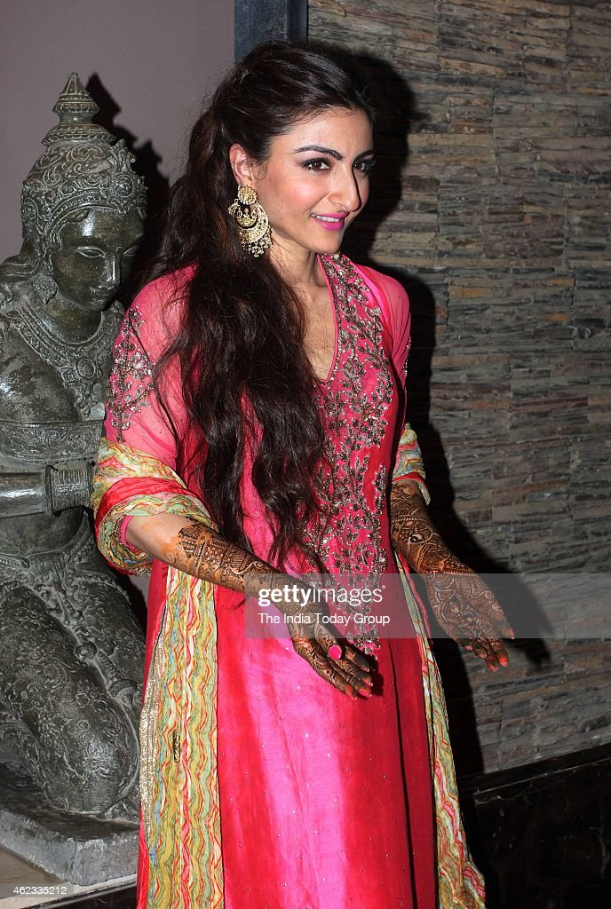 Soha Ali Khan at her mehendi ceremony in Mumbai