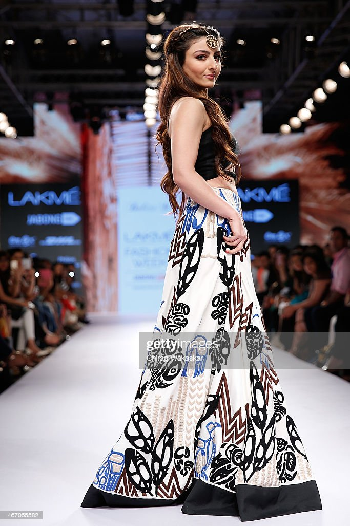 Soha Ali Khan walks the runway during the Babita M show on day3 as part of Lakme Fashion Week Summer/Resort 2015 at Palladium Hotel on March 20 2015...