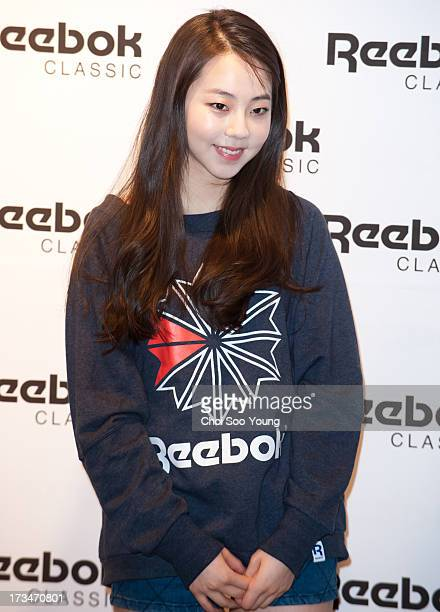 SoHee attends the 'Reebok Classic' Apgujeong store opening on July 12 2013 in Seoul South Korea