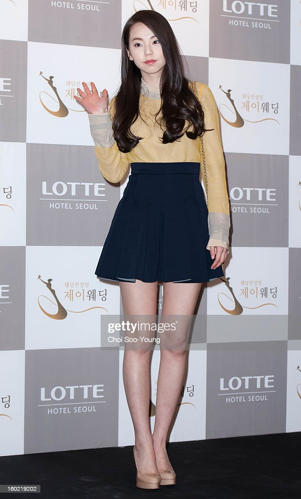 So-Hee of Wondergirls attends Sun's Wedding at lotte hotel on January 26, 2013 in Seoul, South Korea.