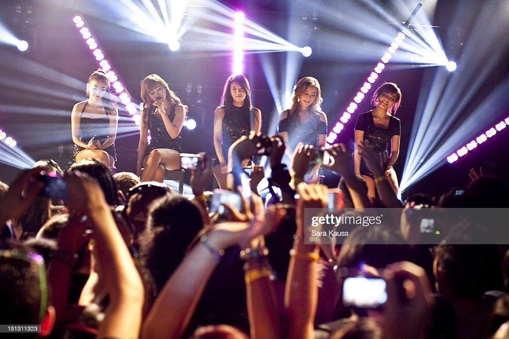 Sohee, Yenny, Yubin, Lim and Sun of Wonder Girls perform onstage at iHeartRadio Presents Wonder Girls at iHeartRadio Performance Theater on September 5, 2012 in New York City.