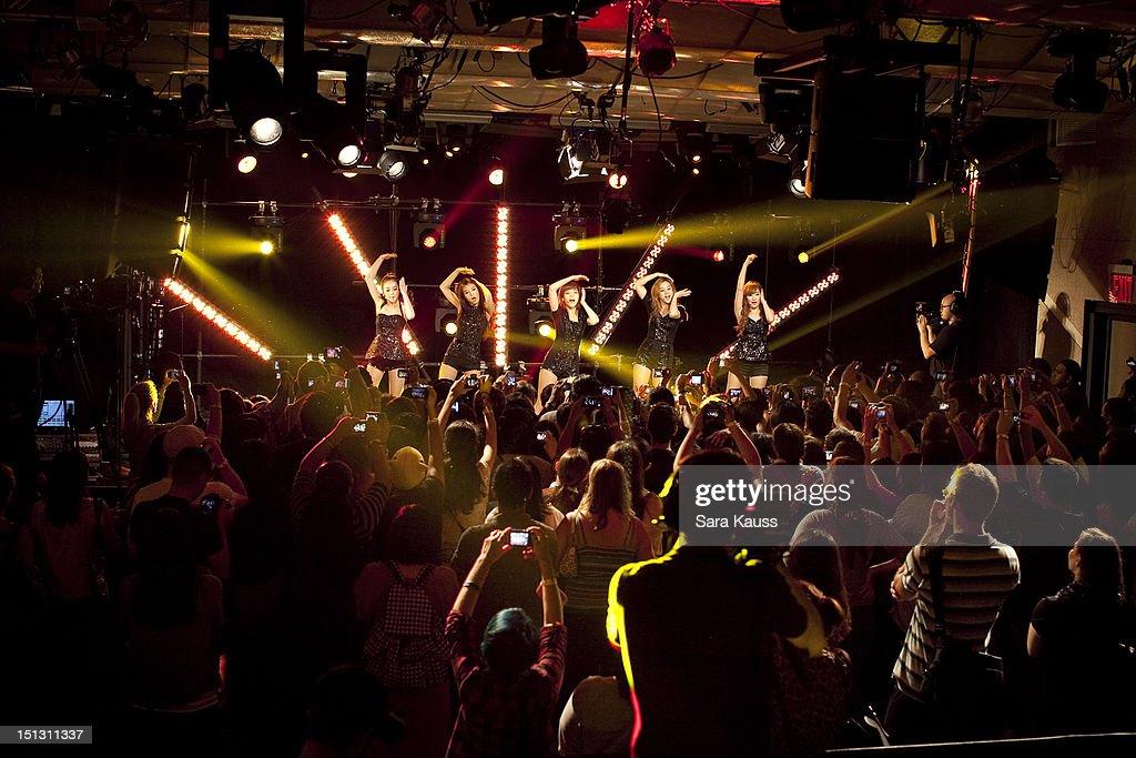Sohee, Yubin, Sun, Lim and Yenny of Wonder Girls perform onstage at iHeartRadio Presents Wonder Girls at iHeartRadio Performance Theater on September 5, 2012 in New York City.