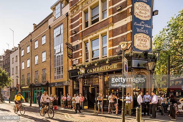 Soho, People near a pub