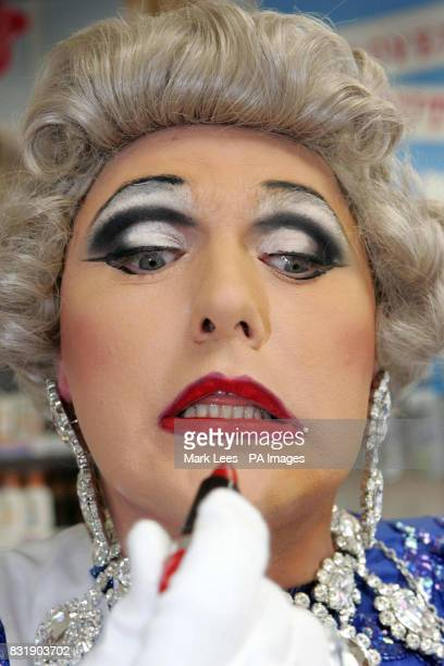 Soho's finest drag Queen 'Bella Beserk' celebrates 'The Soho Alternative Queen's Birthday Party' at Superdrug Charing Cross Road central London