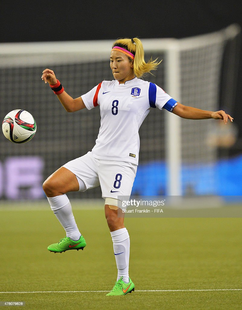 Sohyun Cho of Korea in action during the FIFA Women's World Cup round of 16 match between France and Korea at Olympic Stadium on June 21, 2015 in Montreal, Canada.