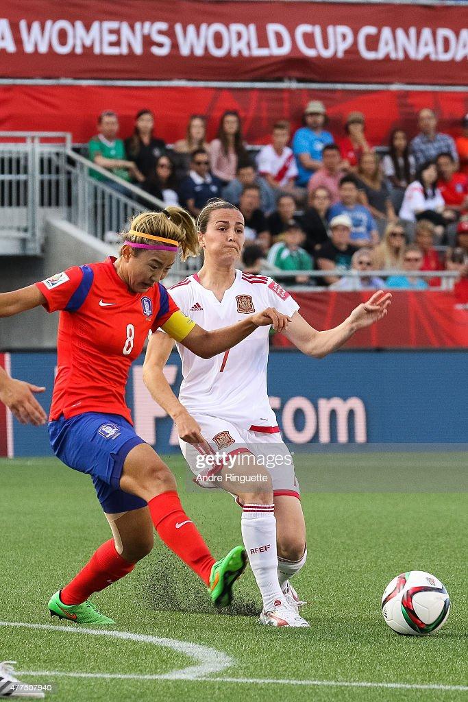 Korea Republic v Spain: Group E - FIFA Women's World Cup 2015