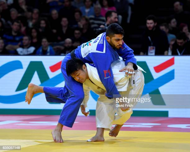 Soichi Hashimoto of Japan here attacking defeated Tohar Butbul of Israel by 2 wazaris to reach the u73kg final and win the gold medal during the 2017...