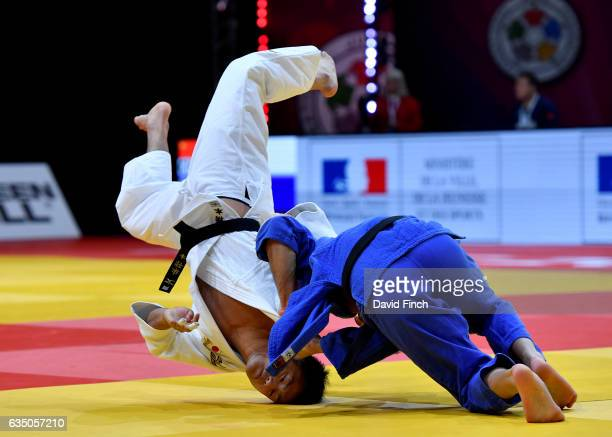 Soichi Hashimoto of Japan here avoiding a throw defeated Tohar Butbul of Israel by 2 wazaris to reach the u73kg final and win the gold medal during...