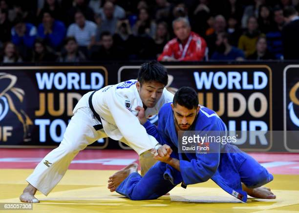 Soichi Hashimoto of Japan here avoiding an attack defeated Tohar Butbul of Israel by 2 wazaris to reach the u73kg final and win the gold medal during...