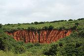 Soil erosion in the Addo Elephant Park near Port Elizabeth, South Africa.