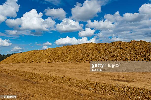 soil heap and sky