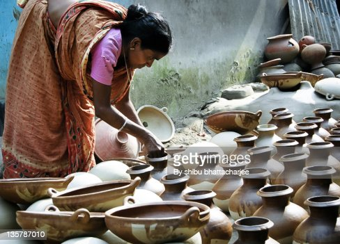 Soil made different type waterpot stock photo getty images for What is dirt composed of