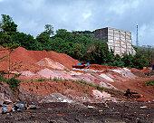 Soil on construction site