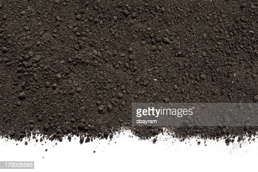 Soil or dirt isolated on white background