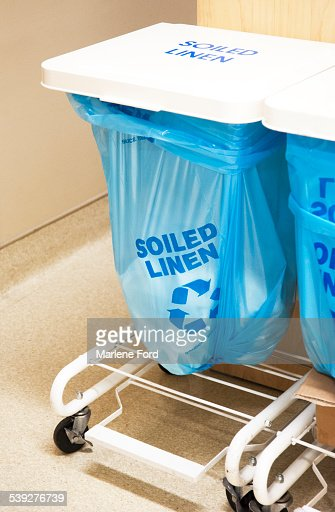 Soiled Linen Bin In Hospital Stock Photo Getty Images