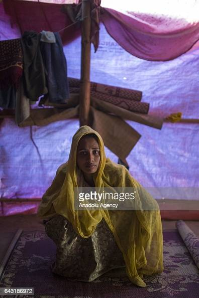 COX'S BAZAR BANGLADESH FEBRUARY 20 Sokina Khatun one of the women who were raped by Myanmar armed forces members takes shelter at Leda unregistered...