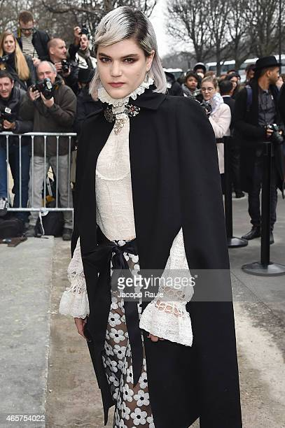Soko arrives at Chanel Fashion Show during Paris Fashion Week Fall Winter 2015/2016 on March 10 2015 in Paris France