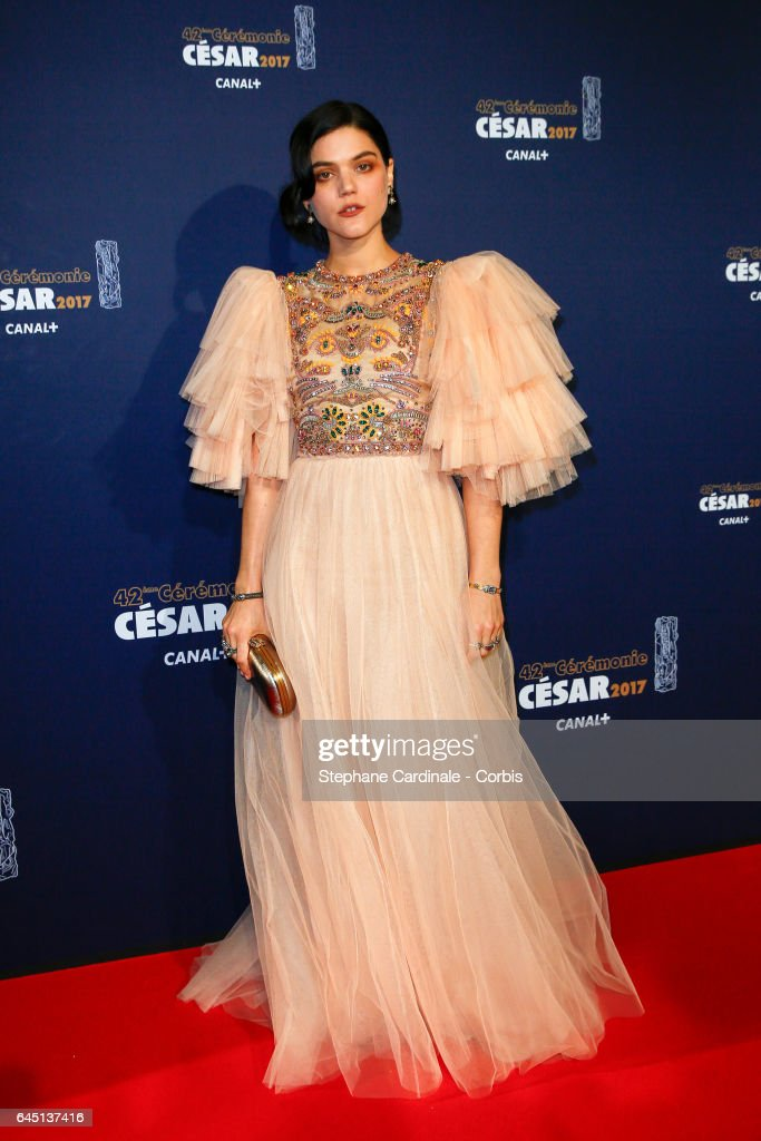 Soko arrives at the Cesar Film Awards 2017 ceremony at Salle Pleyel on February 24, 2017 in Paris, France.