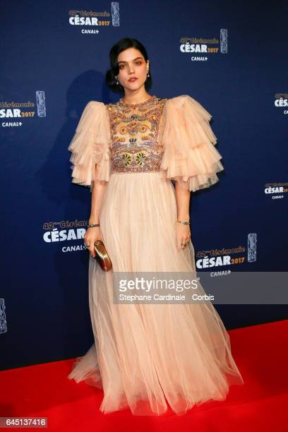 Soko arrives at the Cesar Film Awards 2017 ceremony at Salle Pleyel on February 24 2017 in Paris France