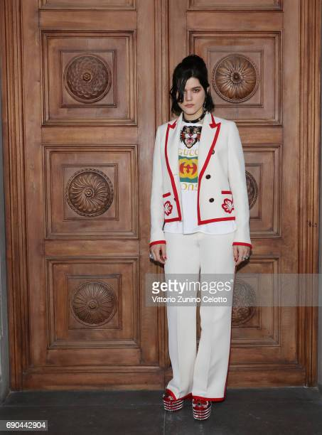 SoKo arrives at the Gucci Cruise 2018 fashion show at Palazzo Pitti on May 29 2017 in Florence Italy