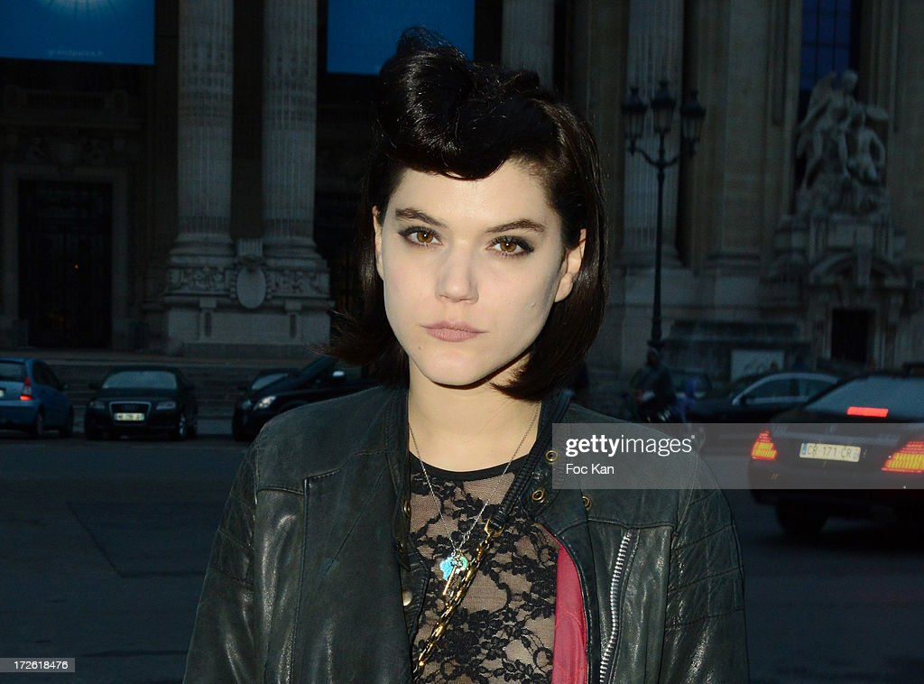 <a gi-track='captionPersonalityLinkClicked' href=/galleries/search?phrase=Soko&family=editorial&specificpeople=2044389 ng-click='$event.stopPropagation()'>Soko</a> arrives at the The Glory of Water' Karl Lagerfeld's exhibition at Fendi Store After Party : Outside Arrivals At the Petit Palais on July 3 on July 3, 2013 in Paris, France.