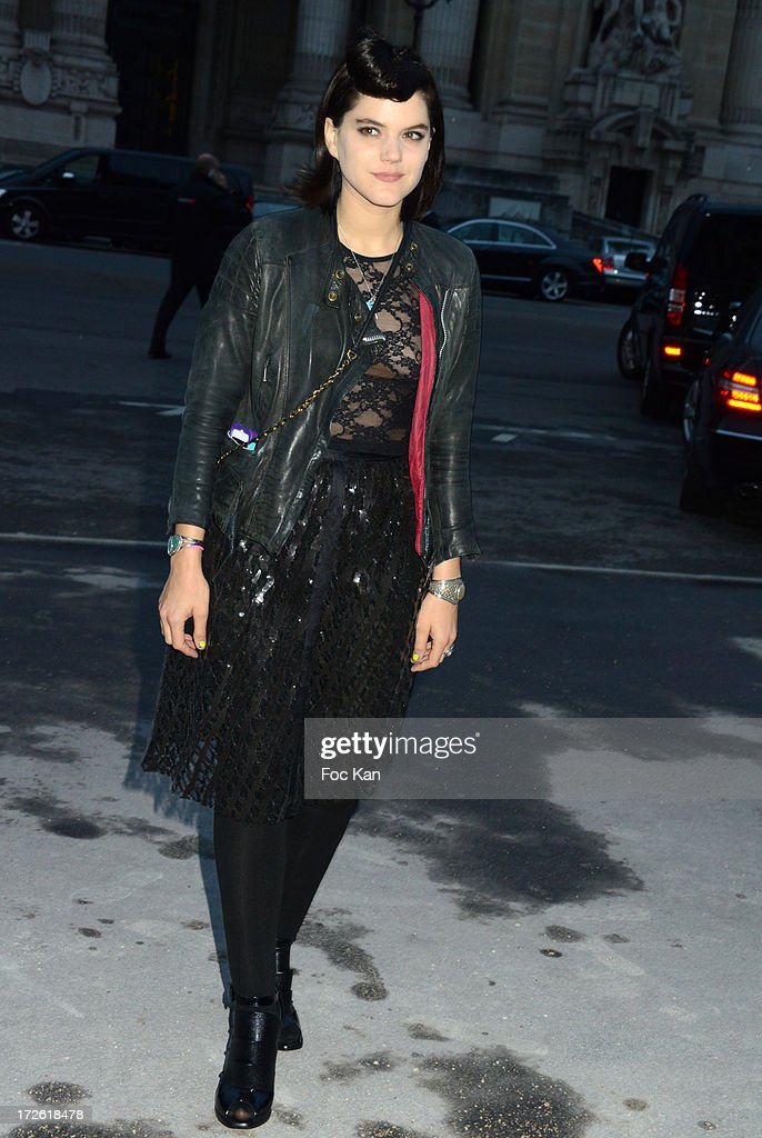 Soko arrives at the The Glory of Water' Karl Lagerfeld's exhibition at Fendi Store After Party : Outside Arrivals At the Petit Palais on July 3 on July 3, 2013 in Paris, France.