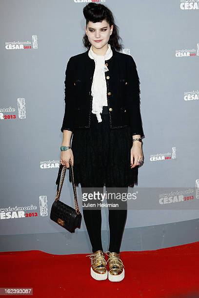 Soko attends the Cesar Film Awards 2013 at Theatre du Chatelet on February 22 2013 in Paris France