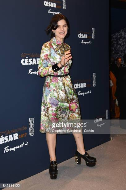Soko attends the Cesar's Dinner at Le Fouquet's on February 24 2017 in Paris France