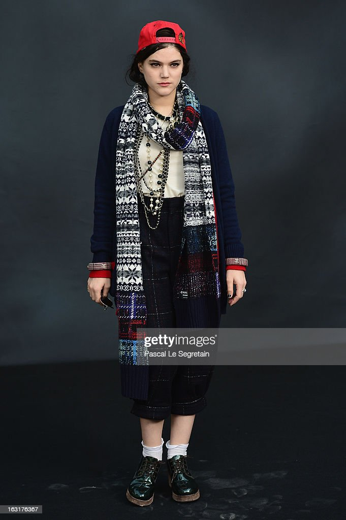 Soko attends the Chanel Fall/Winter 2013 Ready-to-Wear show as part of Paris Fashion Week at Grand Palais on March 5, 2013 in Paris, France.