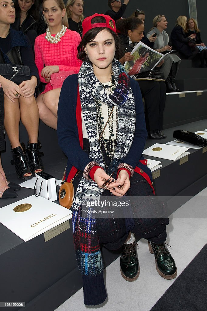 Soko attends the Chanel Fall/Winter 2013/14 Ready-to-Wear show as part of Paris Fashion Week at Grand Palais on March 5, 2013 in Paris, France.