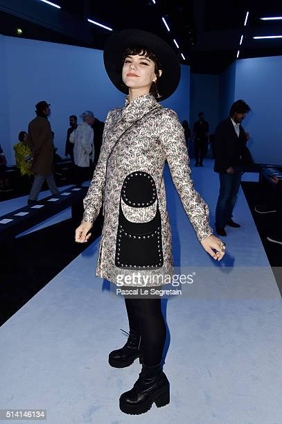 Soko attends the Giambattista Valli show as part of the Paris Fashion Week Womenswear Fall/Winter 2016/2017 on March 7 2016 in Paris France