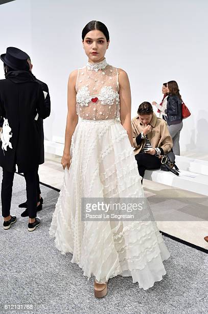 Soko attends the Giambattista Valli show as part of the Paris Fashion Week Womenswear Spring/Summer 2017 on October 3 2016 in Paris France