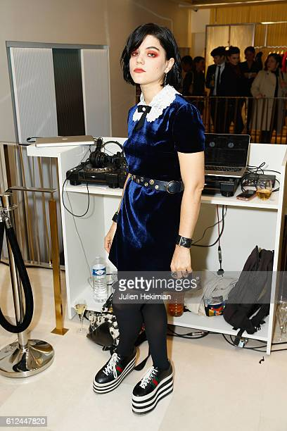 Soko attends the Lonchamp Cocktail as part of the Paris Fashion Week Womenswear Spring/Summer 2017 at Longchamp Boutique St Honore on October 4 2016...
