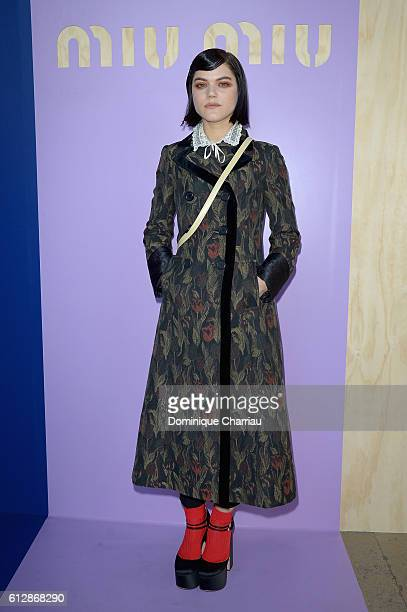 Soko attends the Miu Miu show as part of the Paris Fashion Week Womenswear Spring/Summer 2017 on October 5 2016 in Paris France
