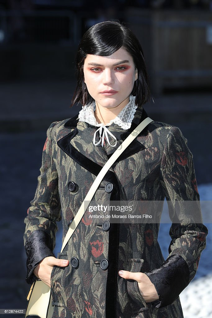 Soko attends the Miu Miu show as part of the Paris Fashion Week Womenswear Spring/Summer 2017 on October 5, 2016 in Paris, France.
